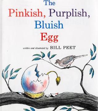 Pinkish purplish bluish egg
