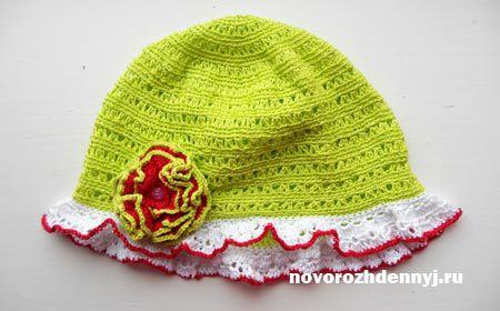 Летняя шапочка для девочки крючком схемы