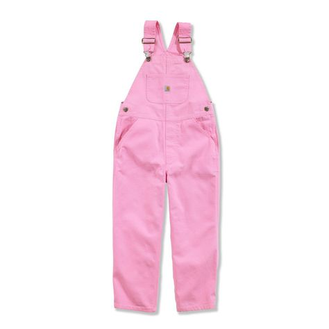 Girls pink carhartt bibs