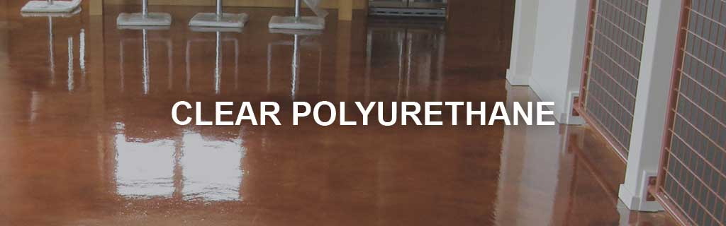 Clear polyurethane concrete sealer