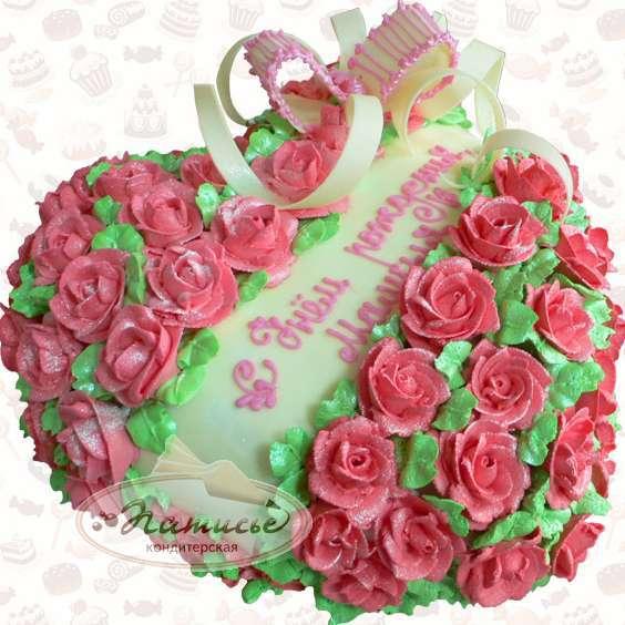Украшение торта для мамы