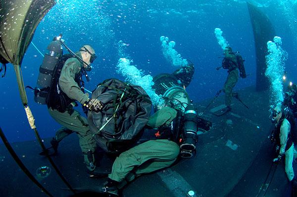 Scuba diving navy seals
