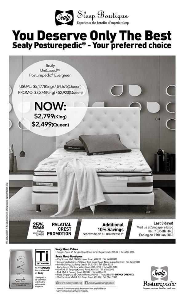 Sealy mattress singapore promotion