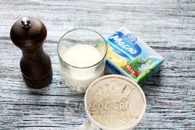 Белый соус рецепт к котлетам