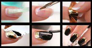 Как дома сделать маникюр с фольгой