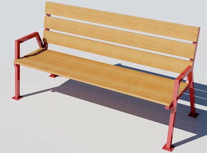 3D модель скамейки