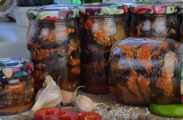 вкусный рецепт баклажанов по-грузински на зиму
