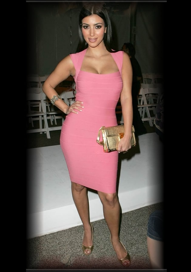 Herve leger hot pink bandage dress