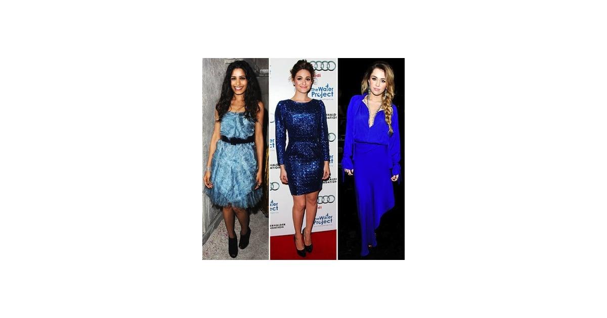 Celebrities wearing blue shoes