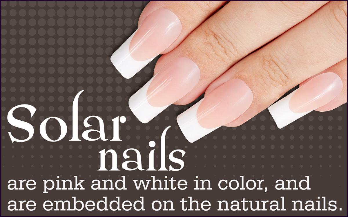 Solar fake nails