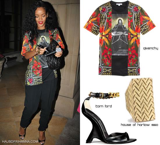 Rihanna in givenchy shirt