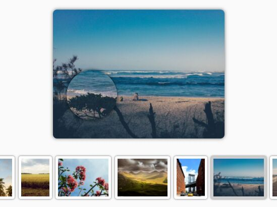Jquery gallery thumbnails zoom