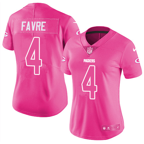 Pink favre jersey