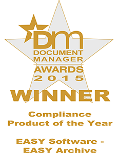 The DM 2015 Award for Compliance Product of the Year goes to EASY SOFTWARE UK