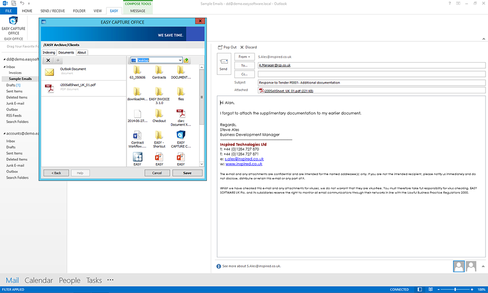 EASY SOFTWARE UK's Screenshot from EASY Capture Office