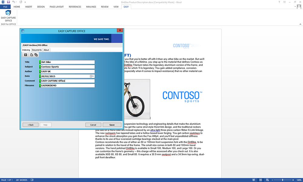 EASY SOFTWARE UK's screenshot of EASY Capture Software Solutions