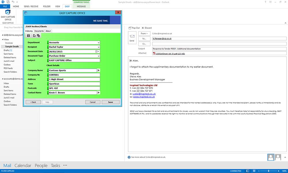 Screenshot of EASY SOFTWARE UK's EASY CAPTURE Software
