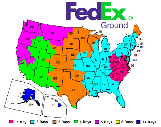 FedEx Ground Map