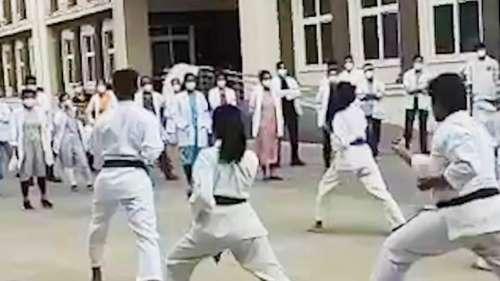 Doctors learn karate