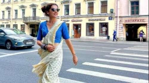 Vacation in Russia: रूस की सड़कों पर दिखा तापसी पन्नू का 'स्वैग', शेयर की साड़ी में खूबसूरत Photo