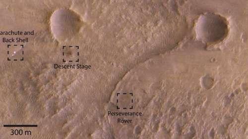 मंगल ग्रह से आई लेटेस्ट तस्वीरें, देखें कहां गिरे थे पर्सिवियरेंस रोवर के हिस्से