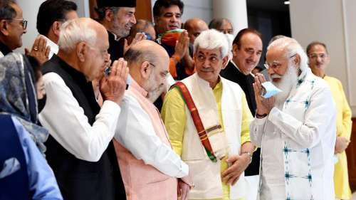 Inside photos from all-party meet with J&K leaders with PM Modi