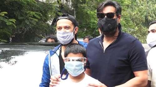 Ajay Devgn, son Yug take part intree plantation drive
