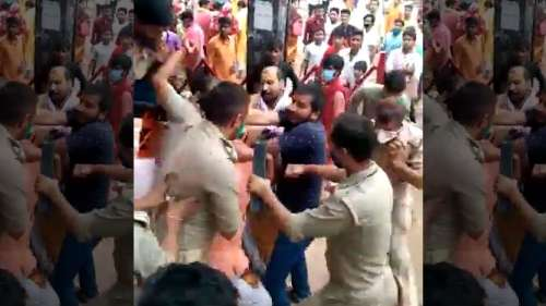 UP: clash between police and priests at Vindhyachal temple
