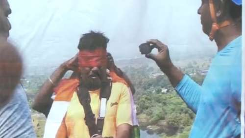 Age no bar: 53-year-old Tamil Nadu man sets record for rappelling blindfolded