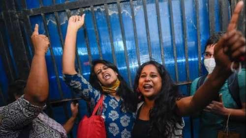 Pinjra tuta: Devangana Kalita, Natasha Narwal walk out of prison, watch them speak