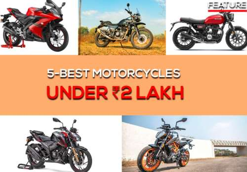 Top motorcycles under 2 Lakh