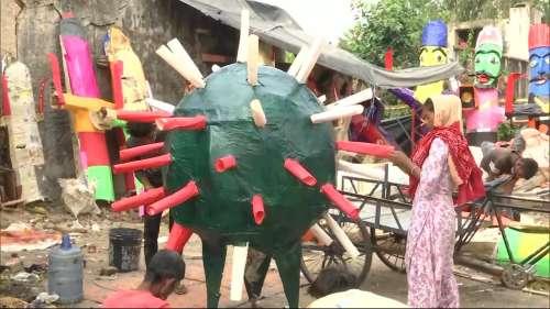 जयपुर के बाजारों में कोरोना थीम वाले रावण की डिमांड