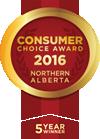 Edmonton Consumer Choice Award for Web Site Design and Development 2011, 2012, 2013, 2014 & 2015
