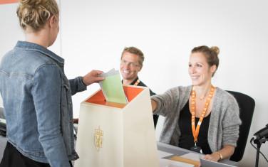 Blanke Ark - voting ballot