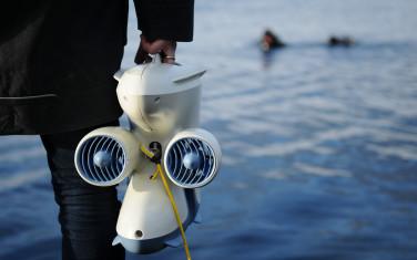 Blueye drone on shore