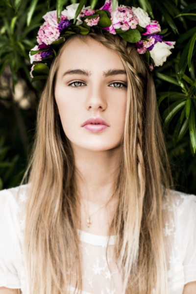 עיצוב שיער ואיפור ערב / צילום: שילת מזרחי / פרחים : קוליברי