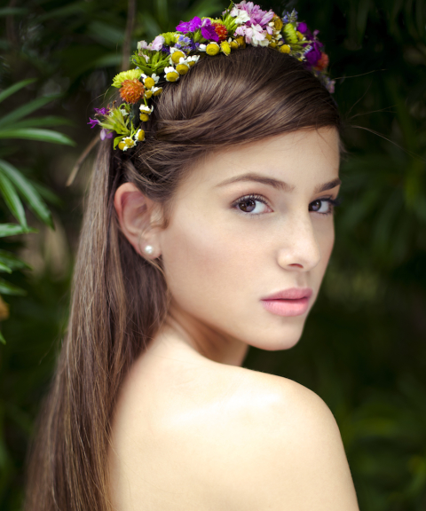 עיצוב שיער ואיפור ערב / צילום שילת מזרחי / פרחים : קוליברי