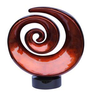DL04-B-Talia Design 17 Inch Deco Swirl Sculpture