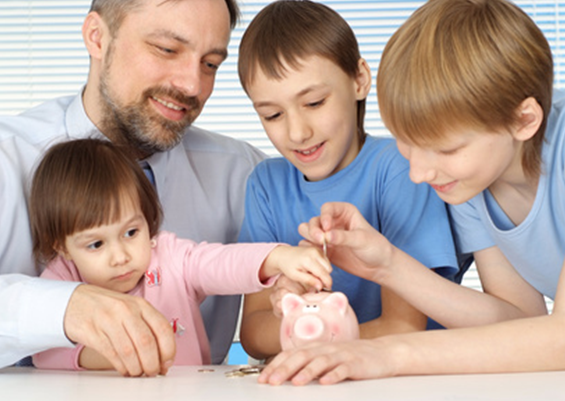 Empowering_The_family_Man_Dad_Kids_Piggy_Bank