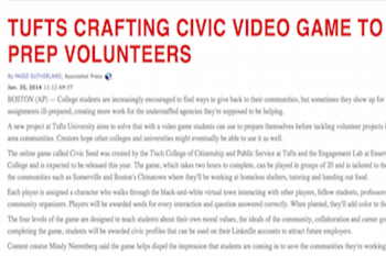Civic Seed Video Game Designed to Teach Volunteers How to Help Community