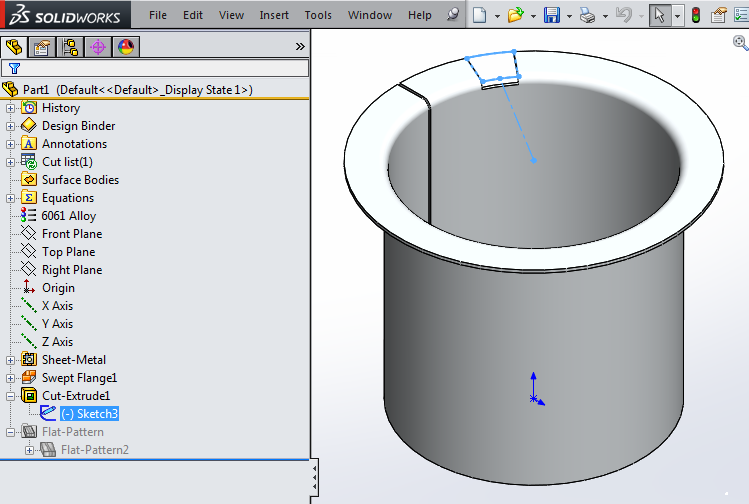 how to make a sheet metal cylinder in solidworks
