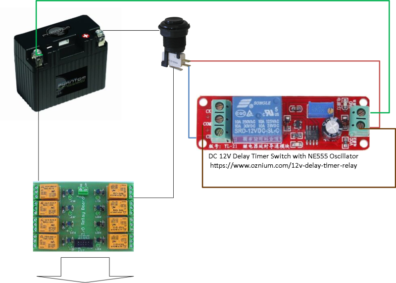 Timed Relay For Latching Loop With Momentary Push Button