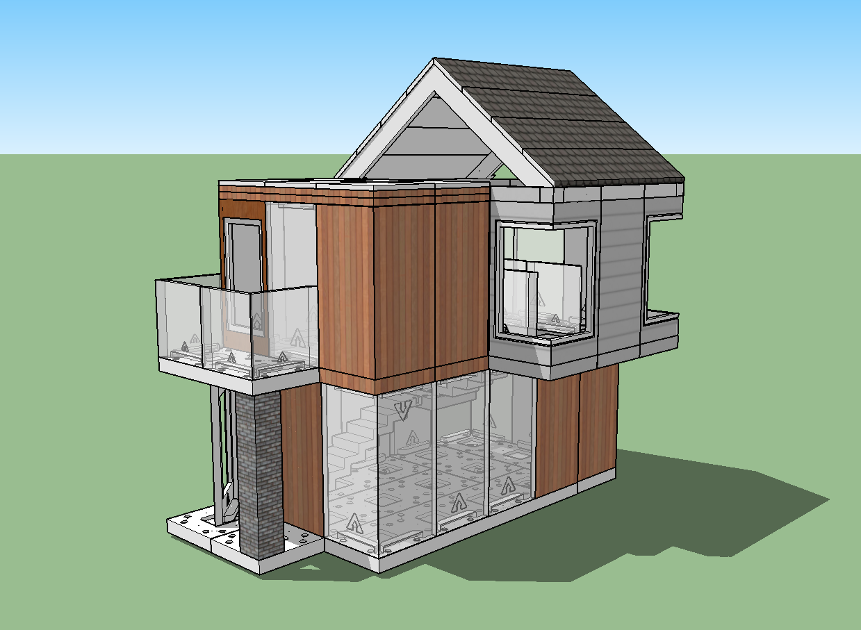 Arckit 3 steps to creating a professional architectural for Minimalist house sketchup