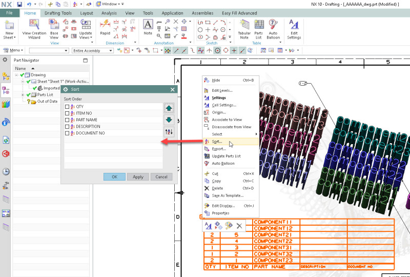 Bom sorting order siemens ugnx eng tips i mentioned in one of your previous threads on how to create a template parts list pronofoot35fo Images