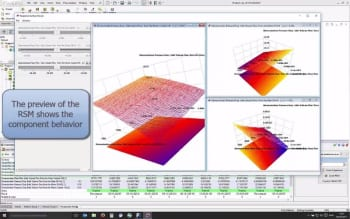 The RSM created in FloEFD that will define the behavior of the N-arm component in FloMASTER. (Image courtesy of Mentor Graphics.)
