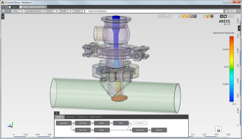 A simplified UI in ANSYS AIM makes it easier for engineers to perform a CFD analysis. (Image courtesy of ANSYS.)