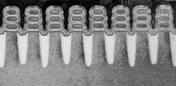 An image of IBM's 5nm silicon nanosheet chip. (Image courtesy of IBM.)