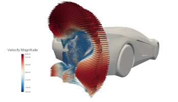 CFD analysis for automotive applications.  (Image courtesy of CONSELF.)