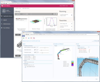 Simulation app from COMSOL uses a simple user interface that encapsulates the expert's knowledge. The tool is now easy to use and has features that prevent bad inputs. It is also stored on a server with an archival system. (Image courtesy of COMSOL.)