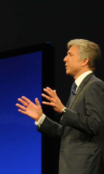 "The IFS chief is critical to competitor SAP, the global ERP leader. They are producing solutions which are not demanded by their user comunity, he claims, and adds that ""They are not in sync here"". On the pictur SAP's CEO, Bill McDermott."